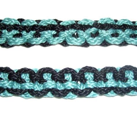 Easy Macrame Belt Patterns - reversible belt