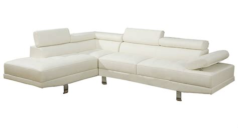 white leather chaise sofa 2 piece deluxe bonded white leather sectional right chaise