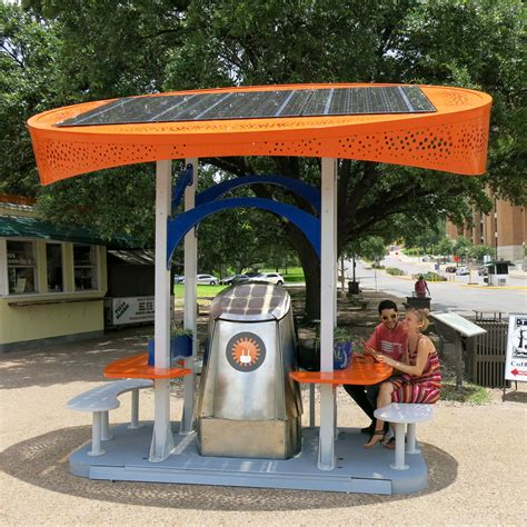 design lab austin tx solar charging station university of texas austin usa