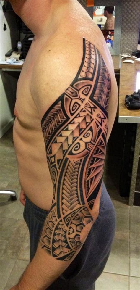 half sleeve polynesian tattoo designs 37 tribal arm tattoos that don t tattooblend