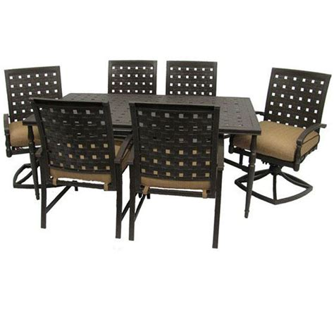 martha stewart 7 patio dining set martha stewart living clover 7 golden bronze patio dining set discontinued