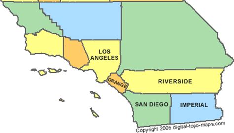 southern california county maps southern california counties map