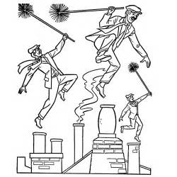 a coloring sheet poppins coloring pages