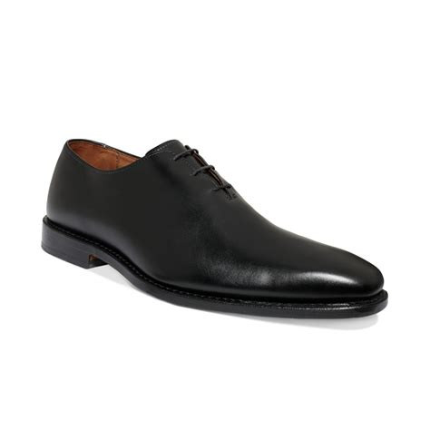 plain black shoes for allen edmonds hanover plain toe shoes in black for lyst