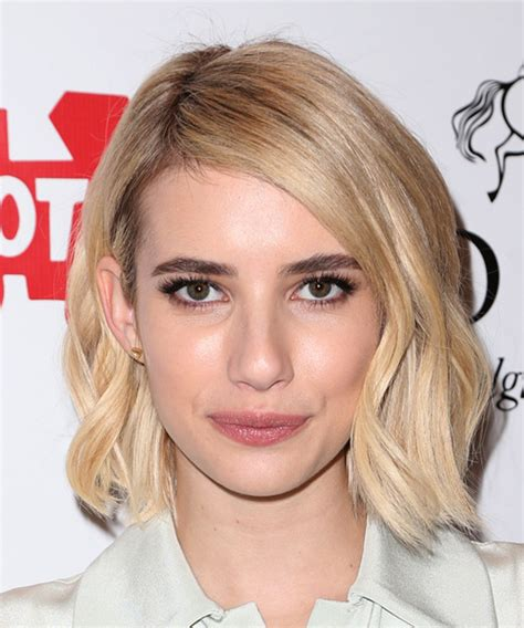 Emma Roberts Medium Straight Casual Hairstyle   Light Blonde