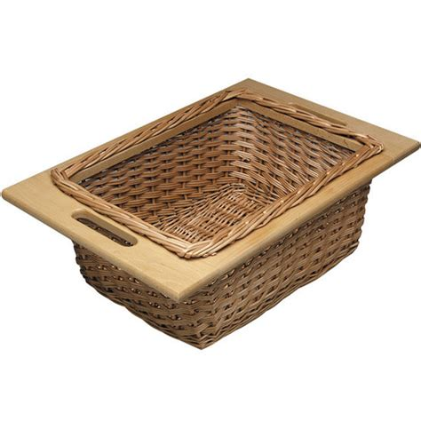 Kitchen Basket Drawers by Hafele Pull Out Wicker Baskets For 15 Or 18 Quot Framed Or
