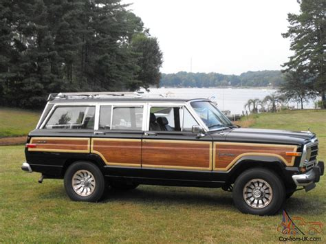 1987 jeep wagoneer 1987 jeep grand wagoneer black woodgrain engine