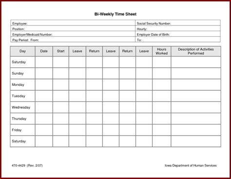 weekly time sheets template weekly timesheet template excel free time