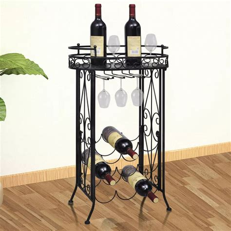 Delightful Black Wrought Iron Wine Rack #3: Image.jpg