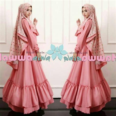 baju model gamis hijab syari aesha marocco hawwa aiwa