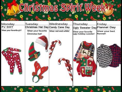 christmas week at school spirit week decore