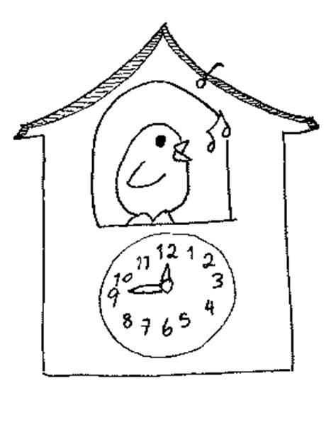 printable cuckoo clock template kitchen interiors cuckoo clock coloring page