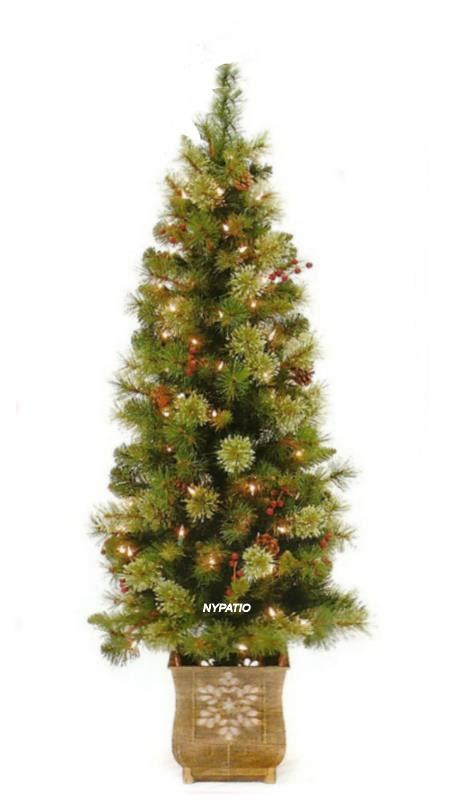 4 1 2 ft pre lit potted porch christmas tree with 70 clear