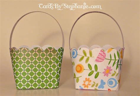 Paper Easter Baskets - easy paper easter baskets cards by
