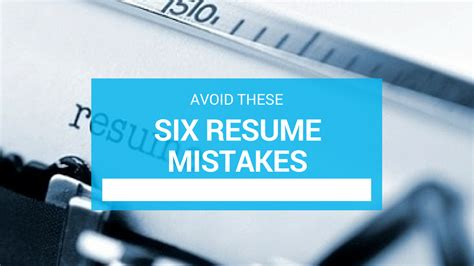 9 Resume Mistakes To Avoid by Don Goodman Resume Writer Sle Top Resume Resume Writer