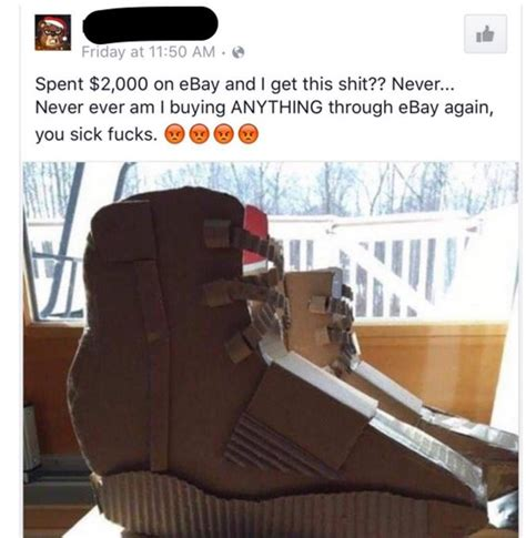 cardboard boat ebay man orders yeezy boost 750 on ebay and he got this carton