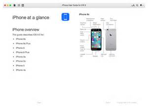 apple releases ios 9 user guides for iphone ipod touch