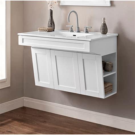 fairmont designs shaker americana  wall mount vanity polar white  shipping modern