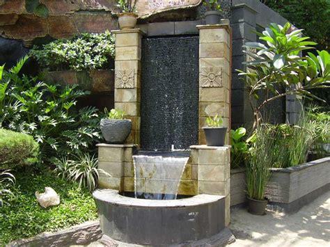 desain air mancur depan rumah arsitektur taman rumah halaman depan bergaya jepang