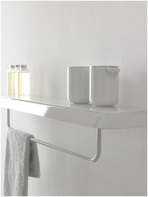 towel shelving bathroom towel rack white cosmecol