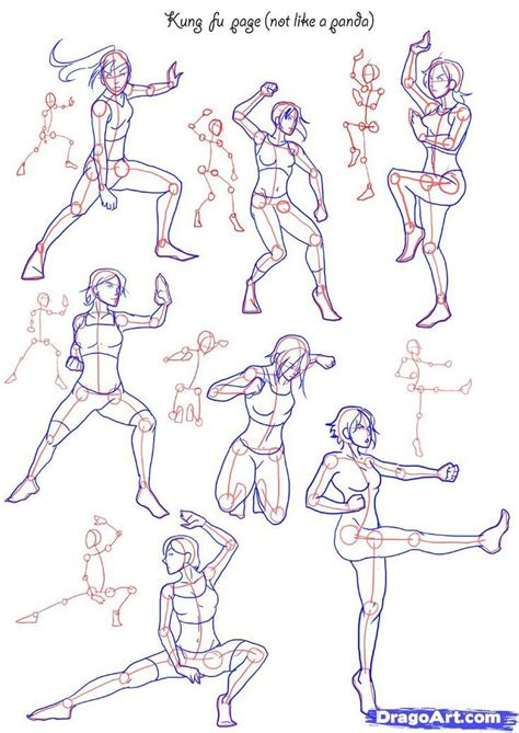 Anime Poses by How To Draw Anime Poses How To Draw Fighting Poses Step