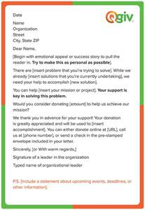letter for donations template 4 awesome and effective fundraising letter templates