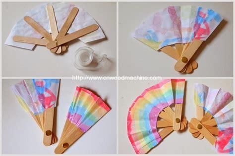 japanese paper fan craft make a folding popsicle stick fan automatic wooden