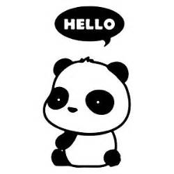 amazon panda thought bubble cute cartoon vinyl decal sticker black sports amp outdoors