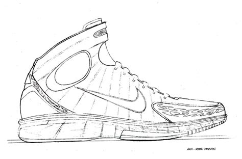 nike basketball coloring pages 20 years of nike basketball design air zoom huarache 2k4