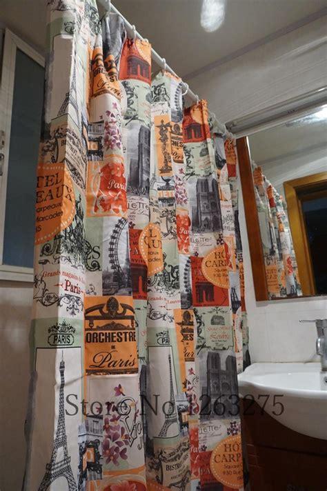 paris cafe curtains 178cm 183cm paris cafe curtains bathroom custom printed