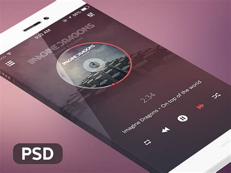 video player layout psd music player download free psd and html