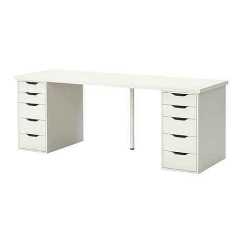 ikea planche bureau linnmon alex table blanc ikea