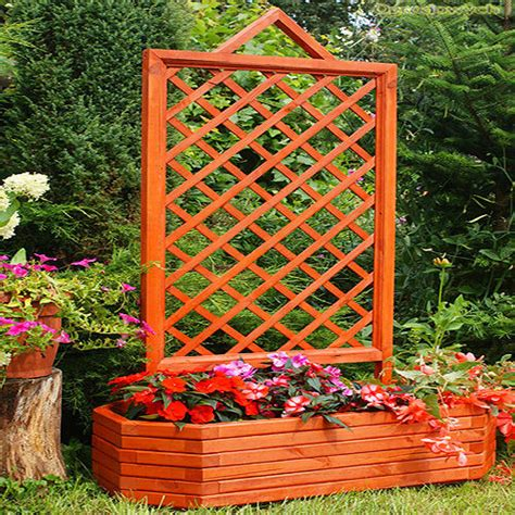 Large Garden Planters With Trellis by Great Price Flower Pot With A Grid Wooden 165x100x45