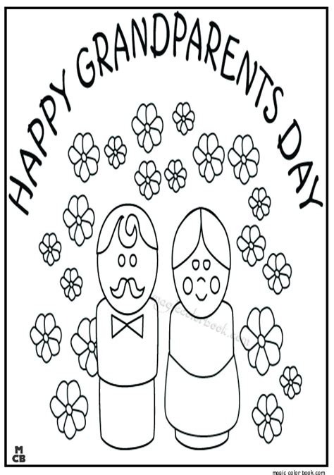 happy grandparents day coloring pages sketch coloring page