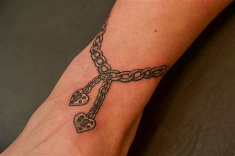 heart ankle tattoo designs ankle bracelet tattoos designs ideas and meaning