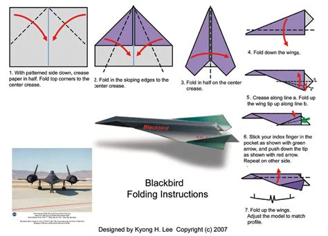 Paper Airplane Folding - blackbird folding