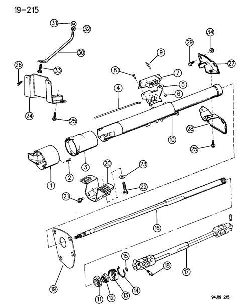 Jeep Yj Steering Column Housing Steering Column Lower W Floor Gear Shift W O Tilt