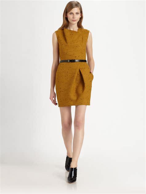 gold draped dress 3 1 phillip lim asymmetric draped dress in gold black lyst