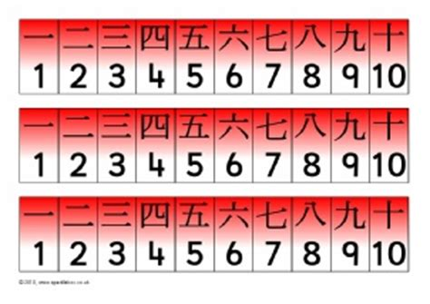 printable chinese numbers 1 20 printable number tracks for early years and key stage one