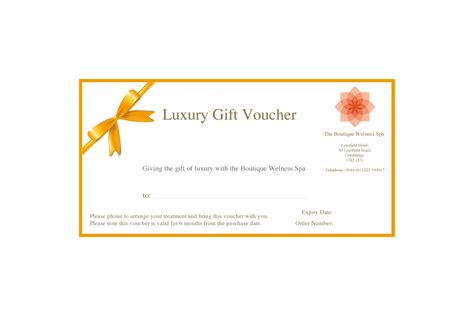 luxury spa voucher the boutique wellness spa