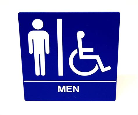 ada bathroom signs men s restroom ada wall sign 8 quot wheelchair accessible