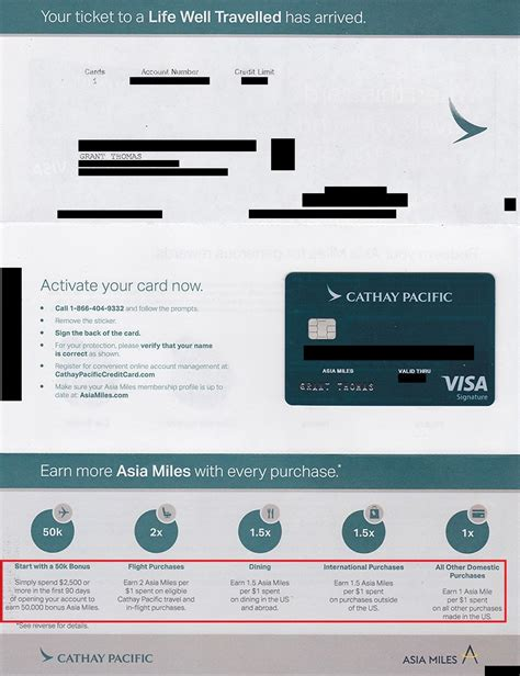 Process Credit Letter cathay pacific credit card letter front 1