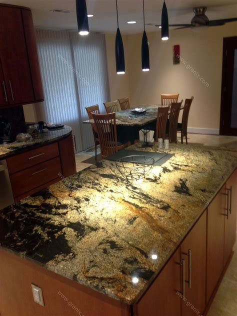 kitchen island granite val d desert dream granite kitchen countertop island and table with full backsplash granix