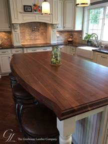 Wood Island Tops Kitchens by Custom Walnut Kitchen Island Countertop In Columbia Maryland