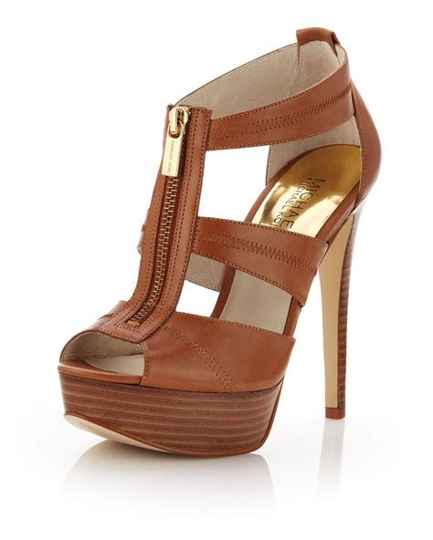 michael kors shoes michael michael kors berkley leather tstrap sandal in