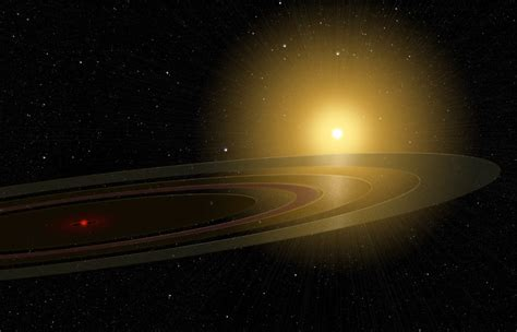 view of sun from saturn a ring system eclipses a space earthsky