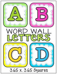 printable alphabet letters for word wall classroom organization decor on pinterest 394 pins