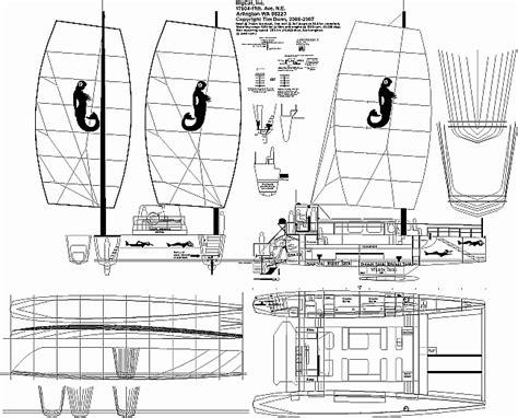 catamaran cross beam design sailboat wing design jenni boat plan