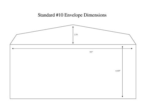 size envelope template envelope measurements standard 10 envelope dimensions 2