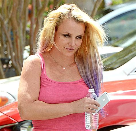 britney spears gets lavender with new hair color change